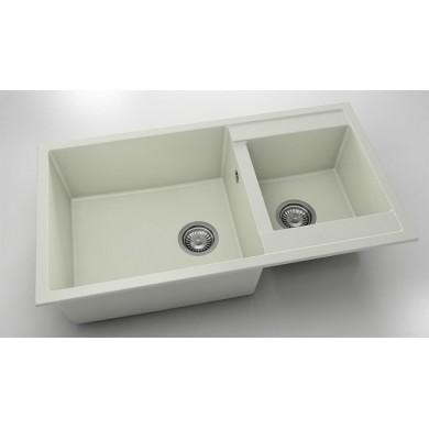 Кухненска мивка с две корита 90х49см от полимермрамор 234