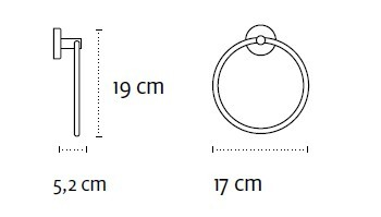 Халка за хавлия Uno кръгла 1220