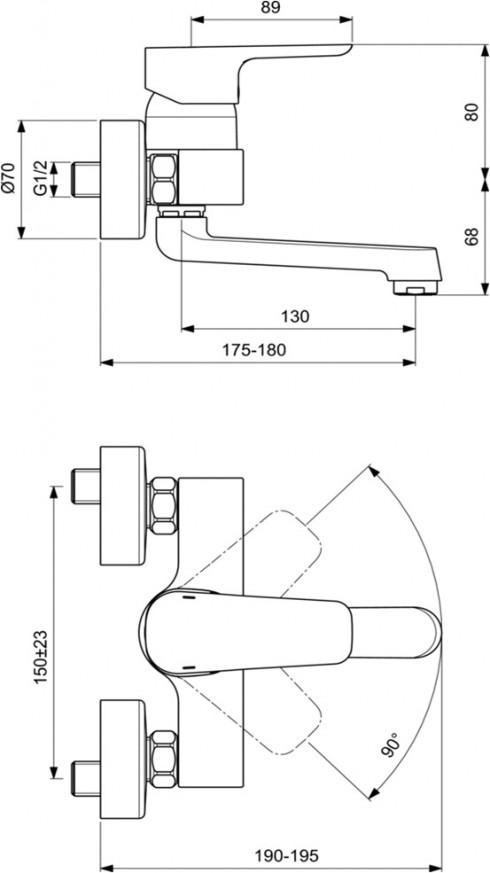 Смесител за кухня Kheops B1306AA стенен