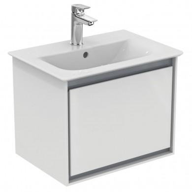 Шкаф за мивка 50 см бял лак+ светлосив лак Connect Air E0817KN