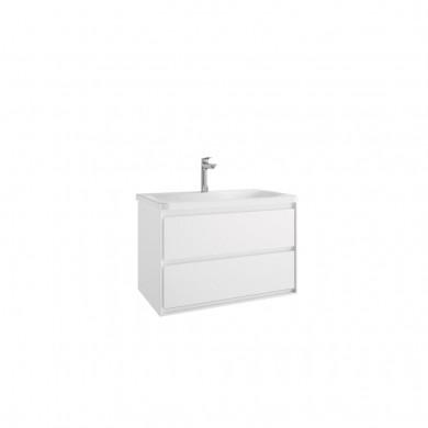 Шкаф за мивка 80 см Connect Air бял лак гланц + бял лак мат E0819B2