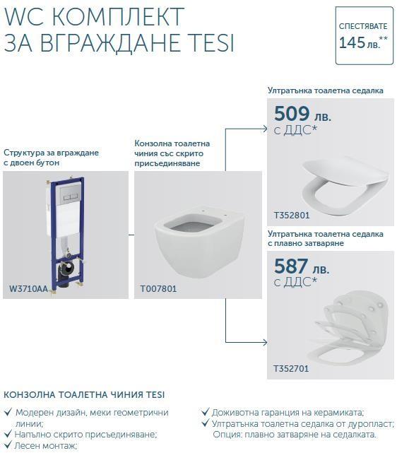 Промо комплект за вграждане Tesi