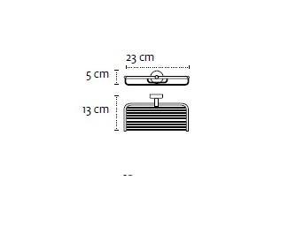 Двойна сапунерка мрежа Modern 2304