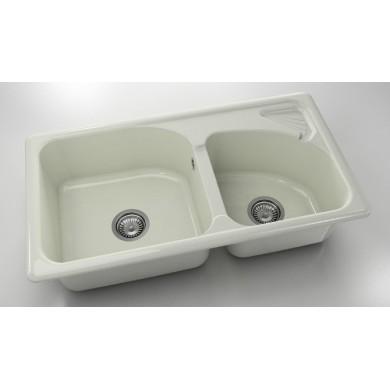 Кухненска мивка с две корита 90х49см от полимермрамор 204