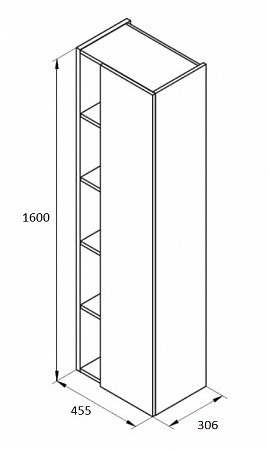 Комплект Etna 100 дъб + колона