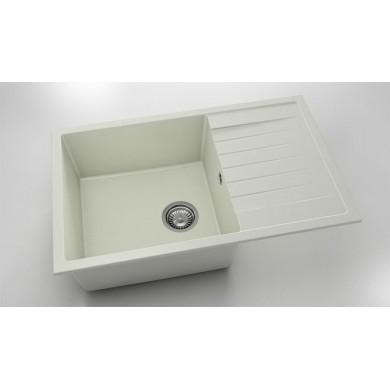 Кухненска мивка с ляв-десен плот 80х49см от полимермрамор 228