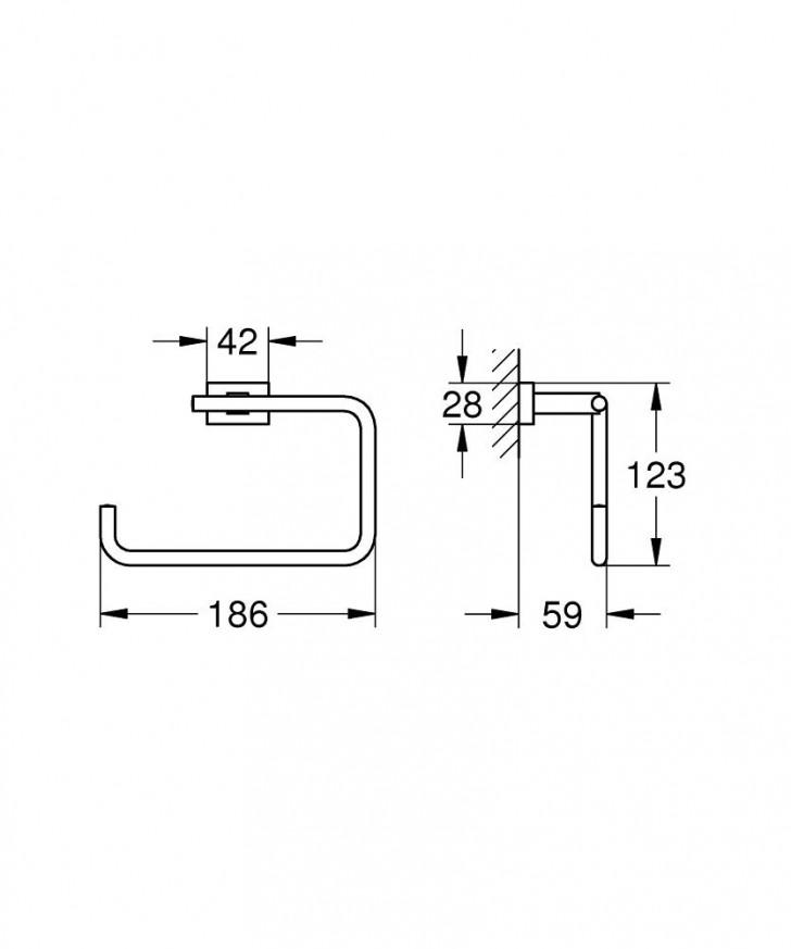 Халка за кърпи Essentials Cube хром 40510001