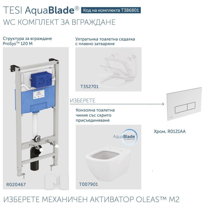 Промо комплект за вграждане Tesi Aquablade T386801/R0121AA