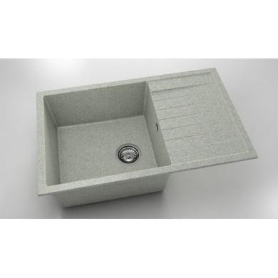 Кухненска мивка с ляв-десен плот 80х49см от граниксит 228