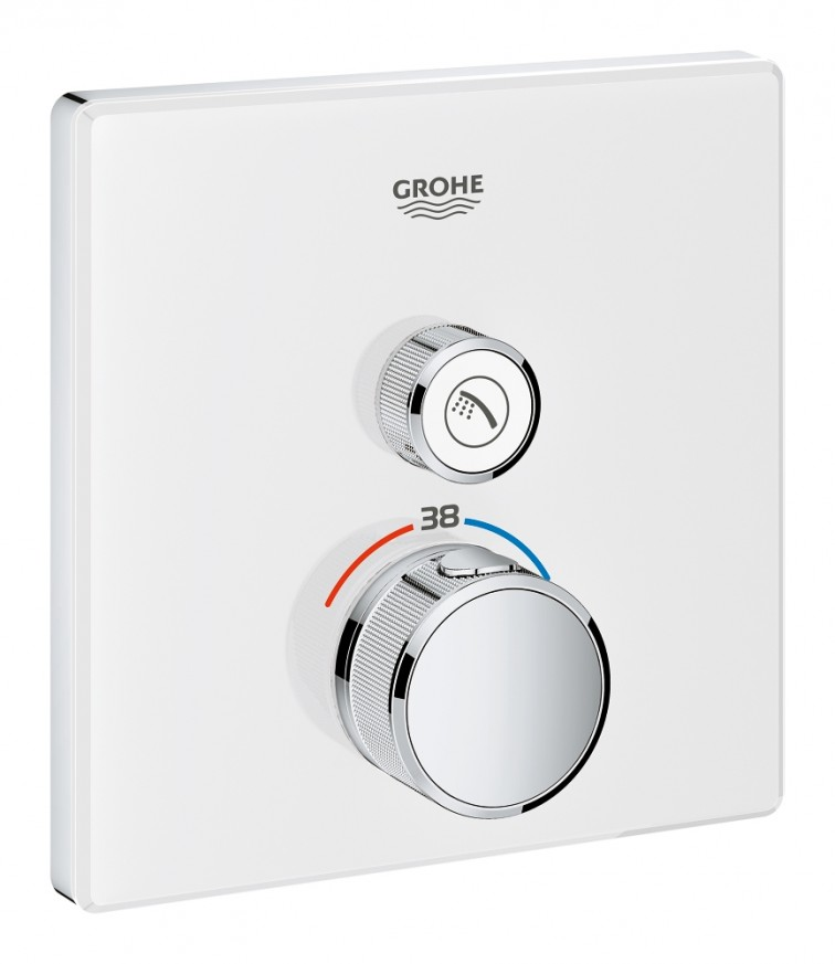 Teрмостат за вграждане за душ Grohtherm SmartControl 29153LS0 moon white