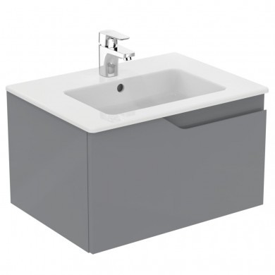 Долен шкаф Imagine 60 см сив гланц с мивка Tempo