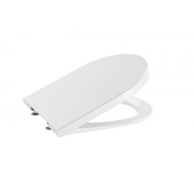 Седалка и капак Inspira Round със забавено падане цвят бял A80152200B