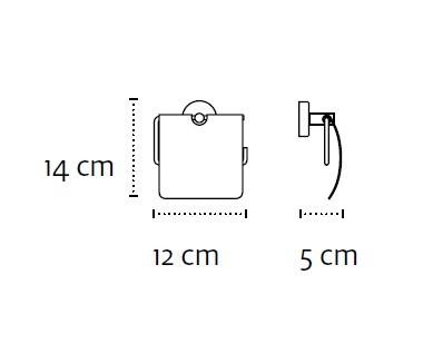 Държач за тоалетна хартия Modern с капак 2403