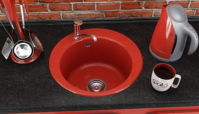 Кръгла кухненска мивка от граниксит 220