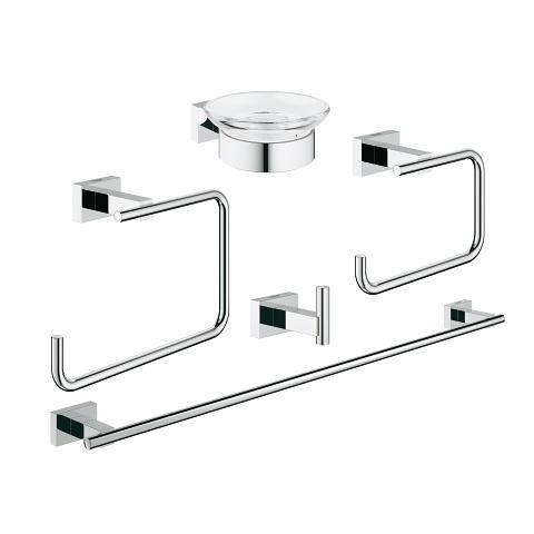 Комплект аксесоари за баня Essentials Cube 5 в 1 40758001