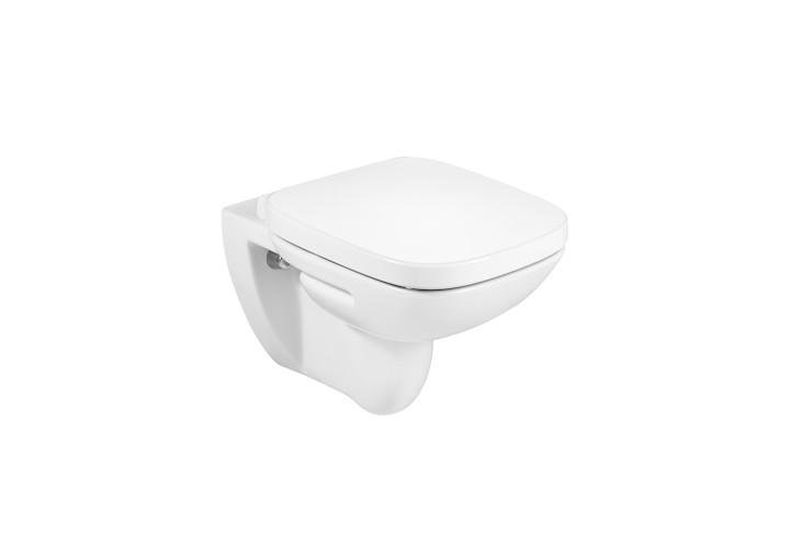Конзолна тоалетна чиния Debba Rimless с капак плавно затваряне