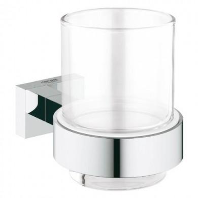 Чаша с държач Essentials Cube хром 40755001