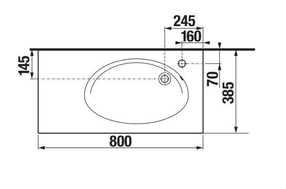 Комплект Etna 80 дъб + колона