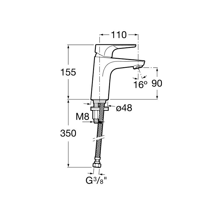 Смесител за умивалник Atlas A5A3290C00