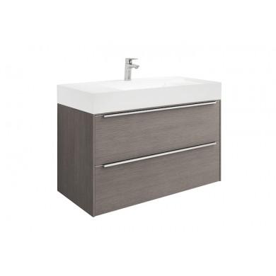 Шкаф за баня Inspira 100см., дъб, с две чекмеджета и умивалник A851077402