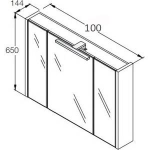 Горен шкаф с огледало Etna 100см дъб A857522445