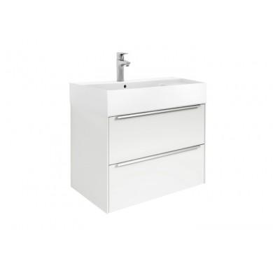 Шкаф за баня Inspira 80см., бял гланц, с две чекмеджета и умивалник A851076806