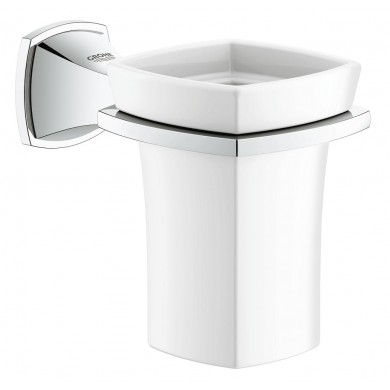 Държач с керамична чаша Grandera хром 40626000