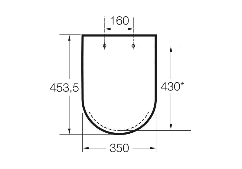 Седалка и капак за тоалетна чиния Gap A801470004