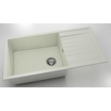 Кухненска мивка с ляв-десен плот 95х49см от полимермрамор 230