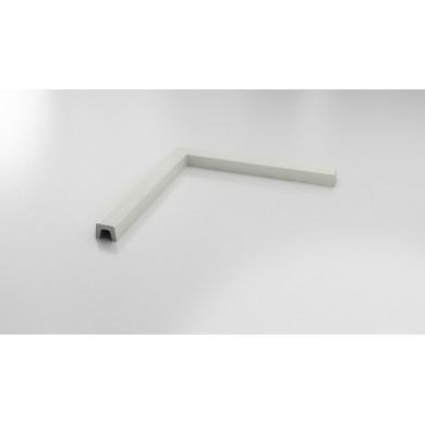 Праг прав ъгъл 125х125см полимермрамор 57125125