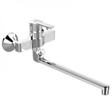 Стенен смесител за вана/душ Calista с дълъг чучур B0876AA