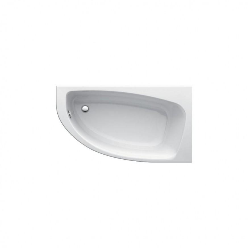 Асиметрична вана за вграждане или за монтаж с панели 160x90см Playa T963401
