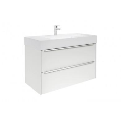 Шкаф за баня Inspira 100см., бял гланц, с две чекмеджета и умивалник A8511077806