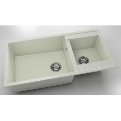 Кухненска мивка с две корита 95х49см от полимермрамор 235