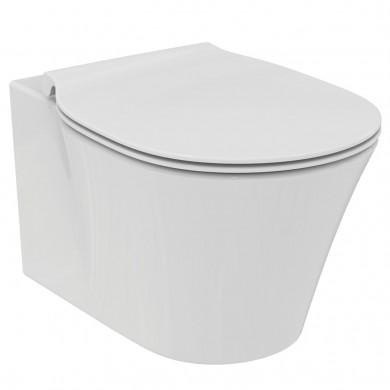 Стояща тоалетна чиния Connect Air Aquablade до стена без капак E004201