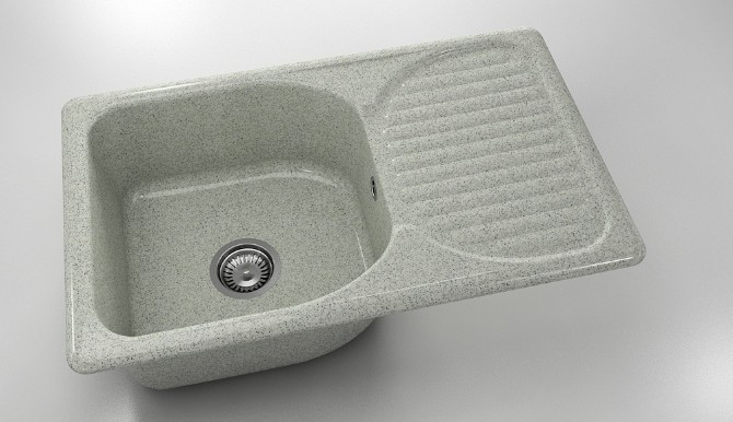 Кухненска мивка с ляв-десен плот 90х49см от граниксит 211