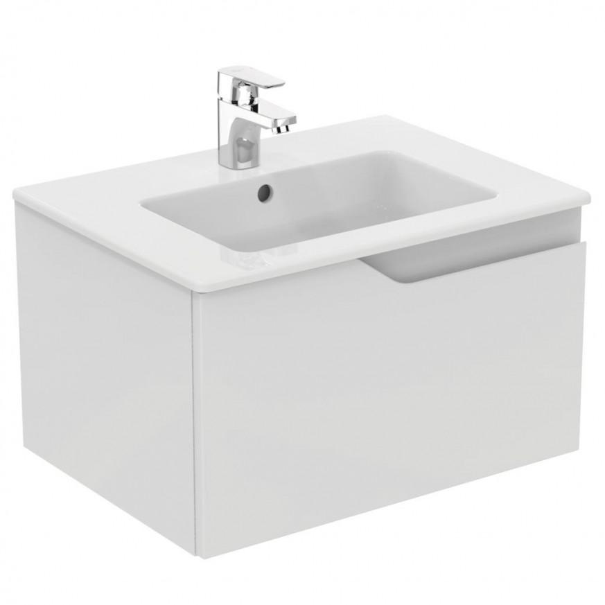 Долен шкаф Imagine 60 см бял гланц с мивка Tempo