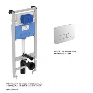 Структура за вграждане Prosys с пневматичен бутон OLEAS™ P3
