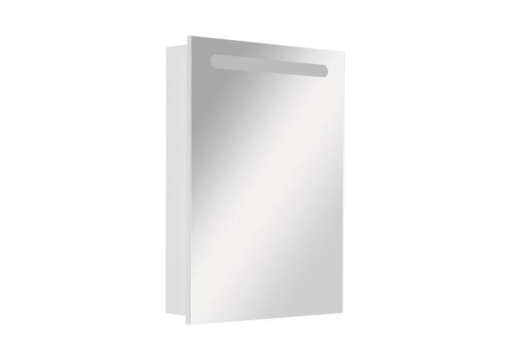 Горен шкаф с огледало Victoria nord ляв 60см бял