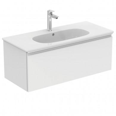 Шкаф за мивка 100 см Tesi бял гланц Т0048OV