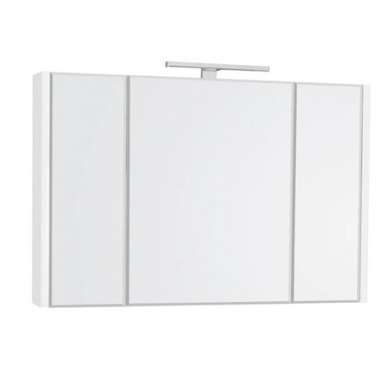 Горен шкаф с огледало Etna 80см бял A857521806