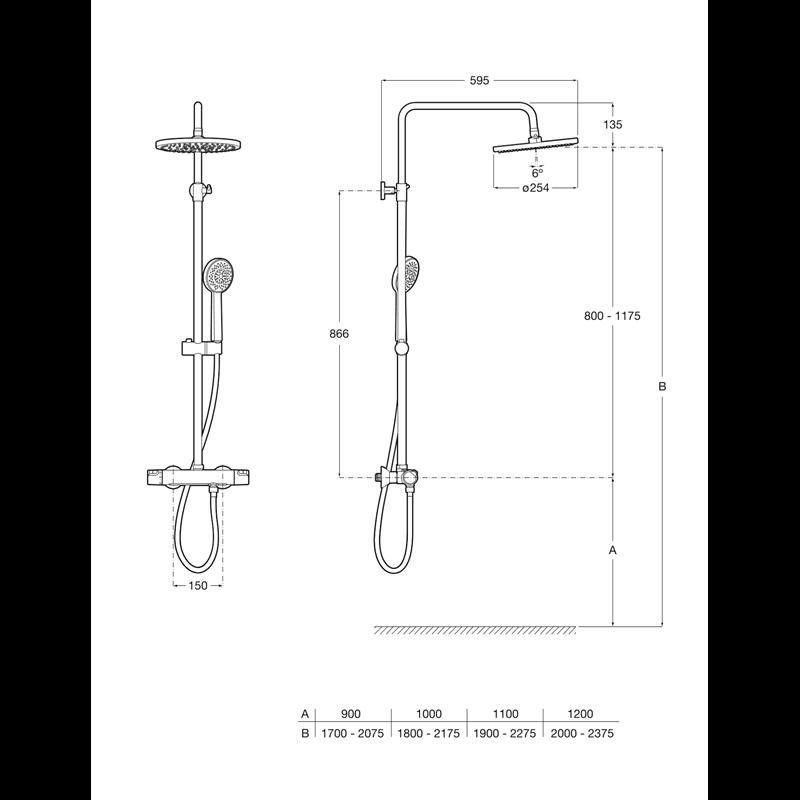 Термостатична душ колона Victoria-T 5A2C18C00