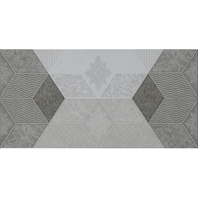 Декор 25х50 Фадо сив гланц