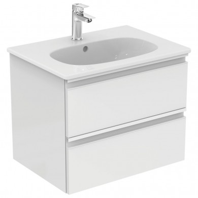 Шкаф за мивка 60 см Tesi бял гланц Т0050OV