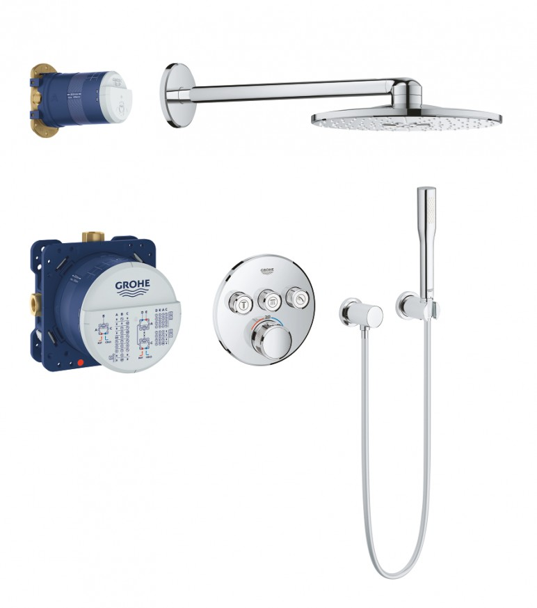Термостат Grohtherm SmartControl+Rainshower комплект за вграждане 34705000