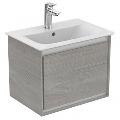 Шкаф за мивка 50 см светлосиво дърво+бял лак Connect Air E0817PS