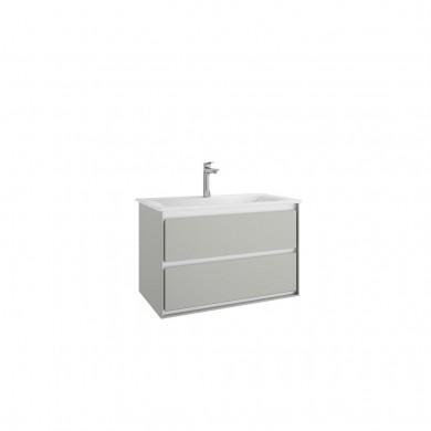 Шкаф за мивка 80 см Connect Air светлосив лак гланц +бял лак мат Е0819ЕQ