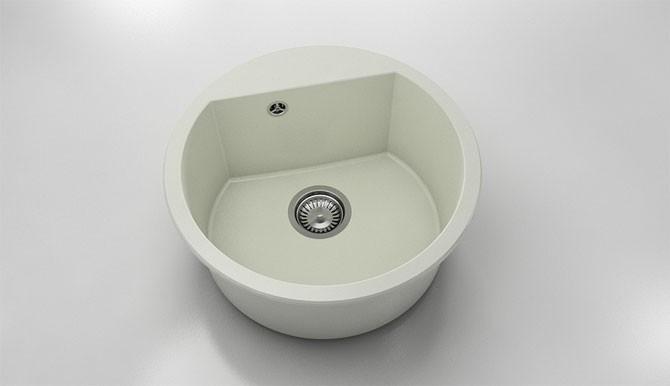 Кръгла кухненска мивка от полимермрамор 223