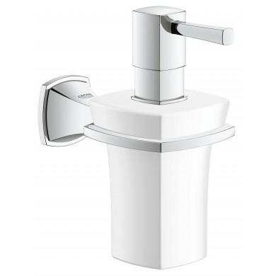 Държач с керамичен дозатор за течен сапун Grandera хром 40627000