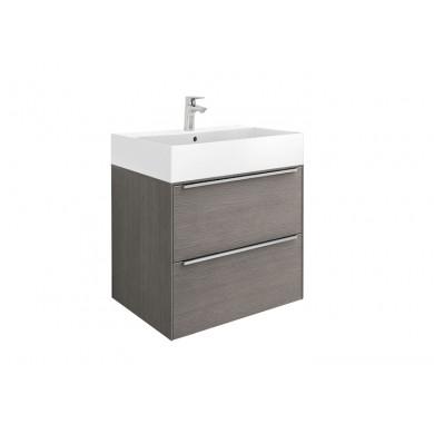 Шкаф за баня Inspira 60см, дъб, с две чекмеджета и умивалник A851075402